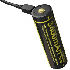 Аккумулятор 18650 с USB зарядкой NL1834R USB 3400mAh с защитой