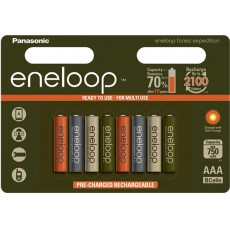 Аккумулятор Panasonic Eneloop 800 mAh AAA BK-4MCCE/4BE Expedition 8 штук