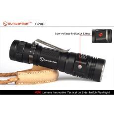 .Sunwayman C20C Tomahawk XM-L2 (450+ ANSI люмен, 1x18650 или 2xCR123a)